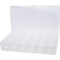 Clear Economy Parts Case - 18 Way 209x117x31mm