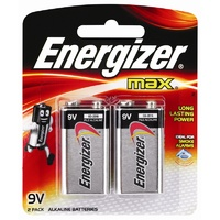 Energizer 9V Alkaline Battery - 2 Pack
