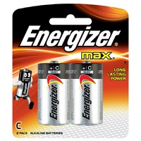 Energizer max C Alkaline Battery - 2 Pack