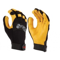 Maxisafe GML158-10 G-Force Leather Mechanics Glove With Leather Palm Size L - Pair