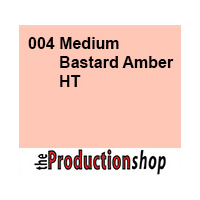 Lee 004 Amber Medium Bastard High Temperature - Half Sheet