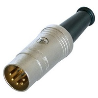 Neutrik 5-Pin (180') DIN Male Line Connector Gold Plated Contacts